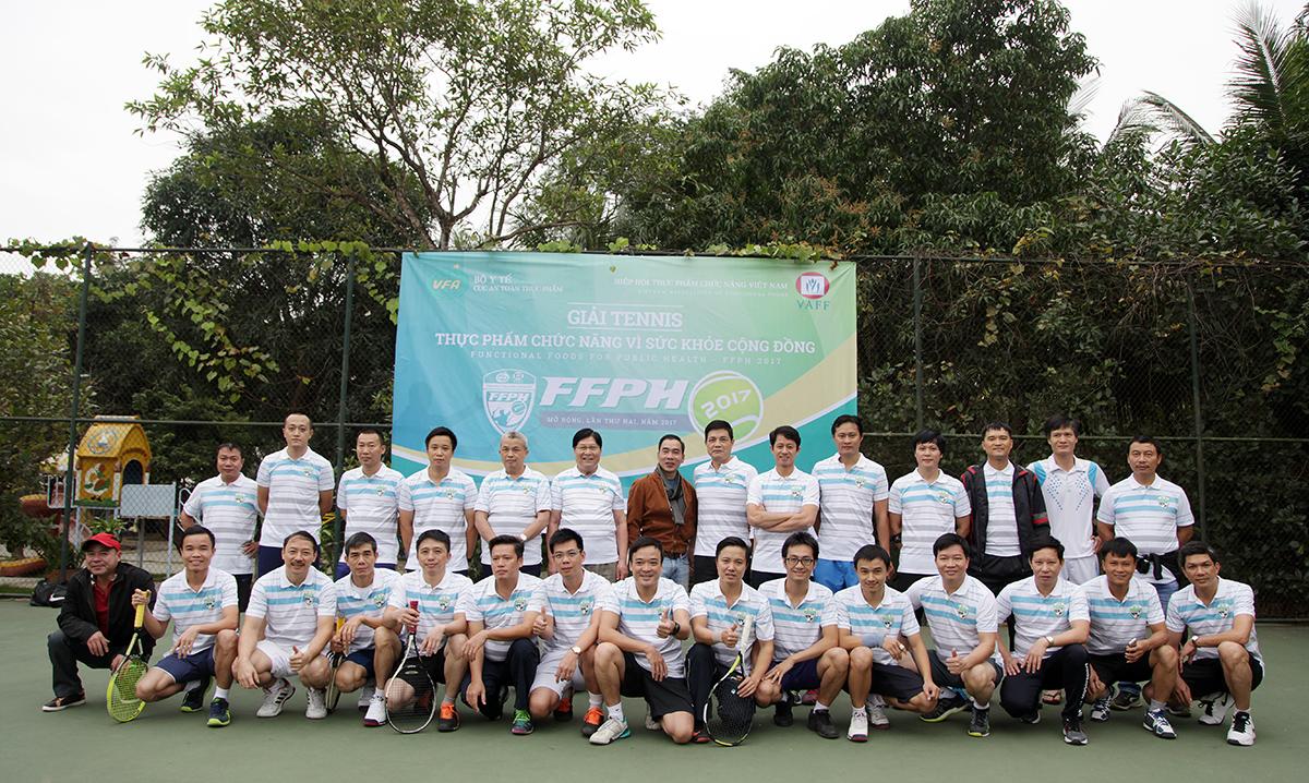 Sội động Giải Tennis Thực phẩm chức năng vì sức khỏe cộng đồng FFPH 2017