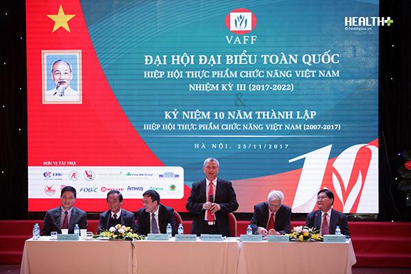 Khai mạc Đại hội đại biểu toàn quốc Hiệp hội Thực phẩm chức năng Việt Nam nhiệm kỳ III