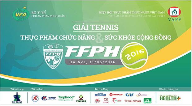 Sôi động giải Tennis Thực phẩm chức năng vì sức khỏe cộng đồng